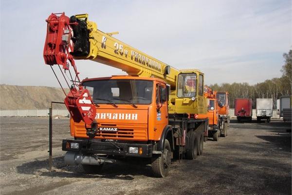 Автокран 25 тонн КС-55713-1