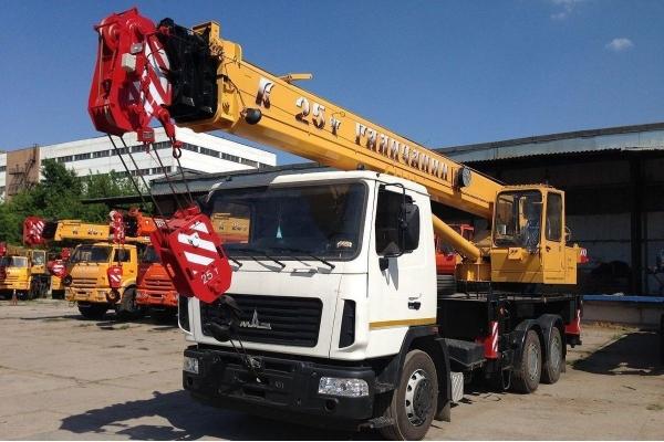 Автокран 25 тонн Галичанин КС-55713-6В