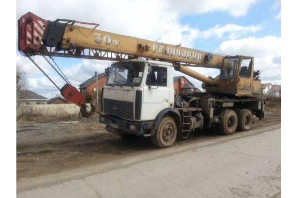 Автокран 30 тонн Галичанин КС-55715